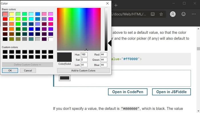 微软Edge Canary迎来更加现代的颜色选择器的照片 - 2