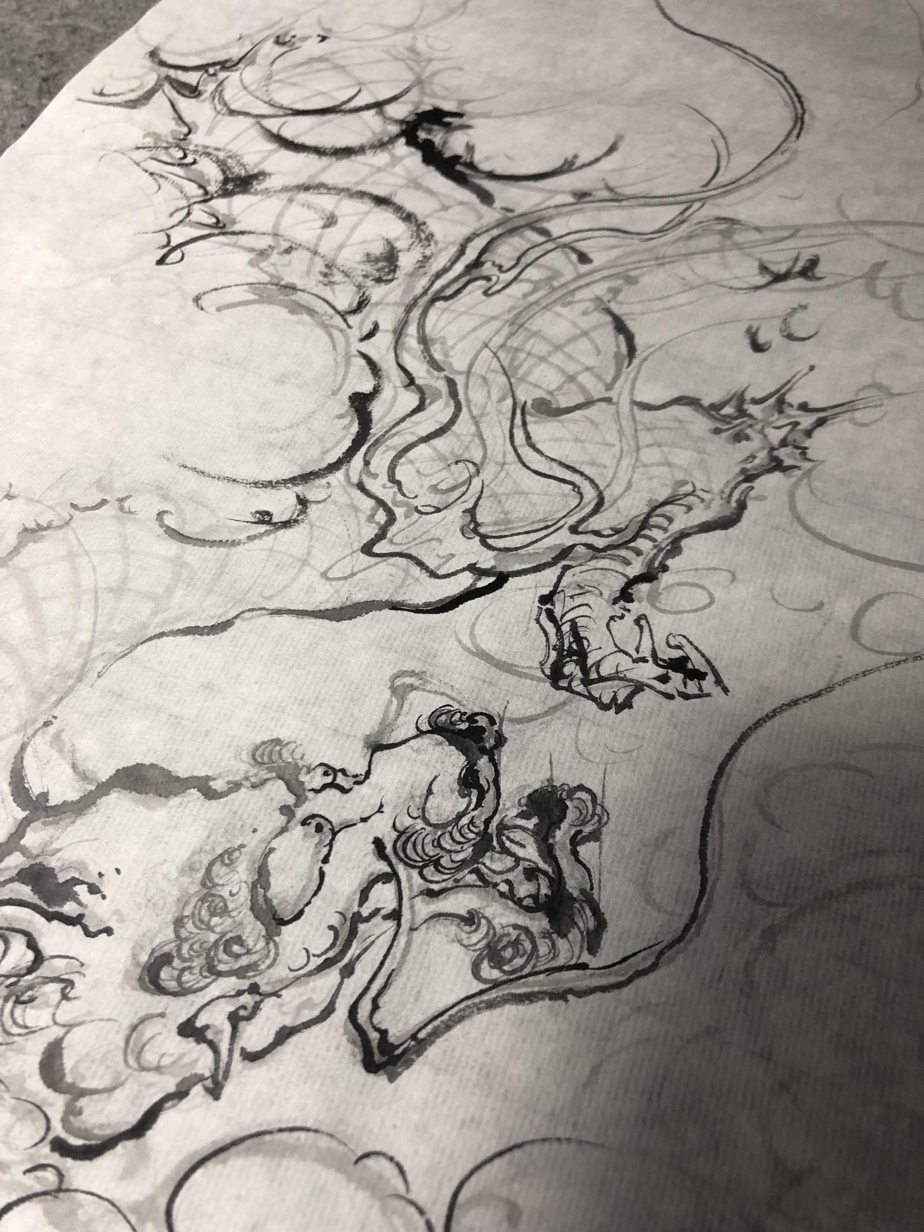 中国龙画法,画龙的流程——由龙 专注传统龙绘画造型研究