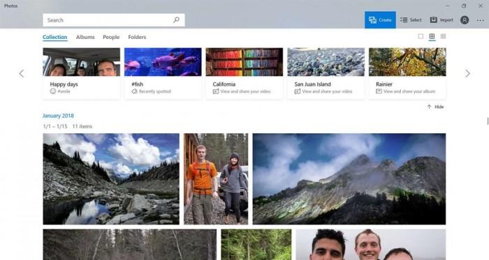 Win10端Photos应用更新:引入全新图片布局的照片 - 1