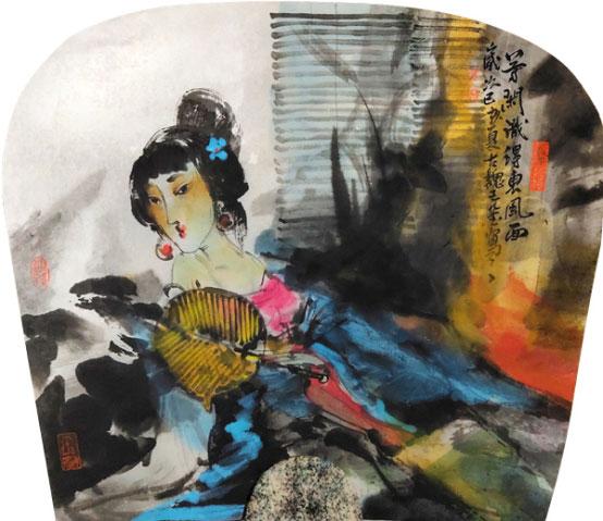 中国著名画家王莹人物画作品欣赏
