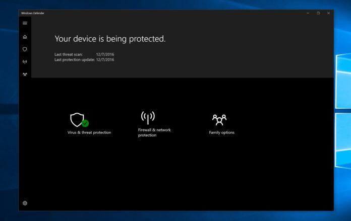 Windows Defender在Win10上可能会被改名的照片