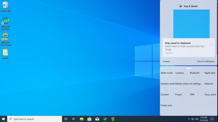 Win10 Build 18947内部版还透露了全新的控制中心的照片 - 2