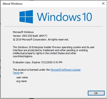 微软误发Win10 Build 18947更新:Slow和RP通道可回滚的照片 - 2
