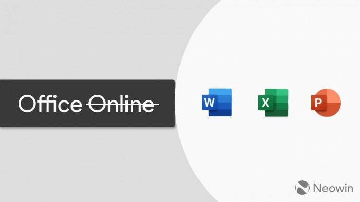 """微软更名网页端Office应用:取消""""Online""""后缀的照片 - 1"""