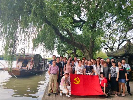 海安高新区胡集教育支部开展红色基地教育主题党日活动