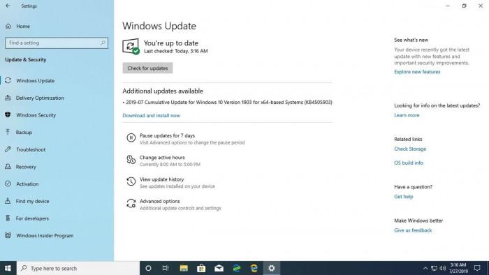 Win10 Build 18362.267发布:修复Windows Hello面部识别错误的照片 - 2