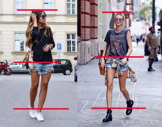 五五身材怎么穿衣打扮(只需记住这三点秒变大长腿)