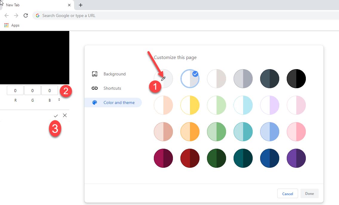 Chrome 78 Canary最新版本现在可支持用户自定制主题的照片 - 2
