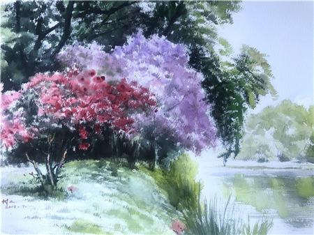 """""""一位虔诚的水彩画家""""——张树人"""