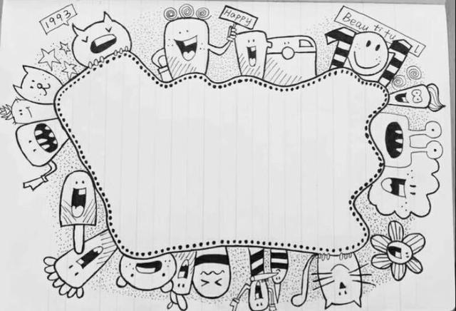 装饰日记本的简笔画(简易可爱的简笔画)