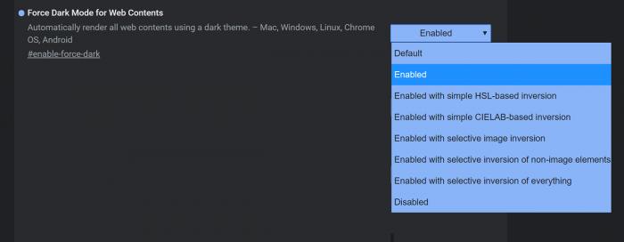 Chrome Canary新版:可强制任意网页进入Dark模式的照片 - 2