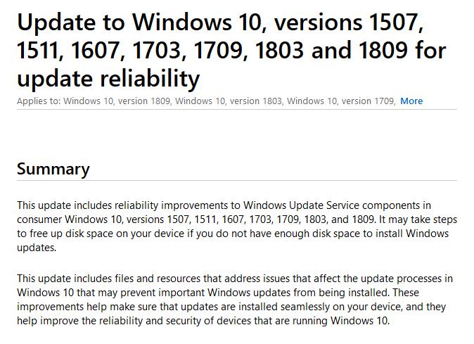 微软重发KB4023057更新:为升级Win10 v1903做准备的照片 - 6