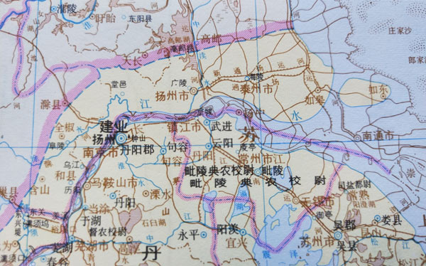 古地名演变:江苏常州古地名演变过程详解