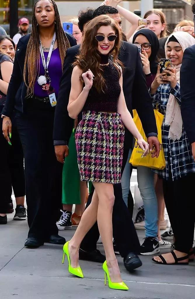 裙子搭配单鞋