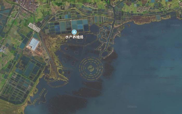 湖面惊现八卦图?常州金坛长荡湖上有一张八卦图!
