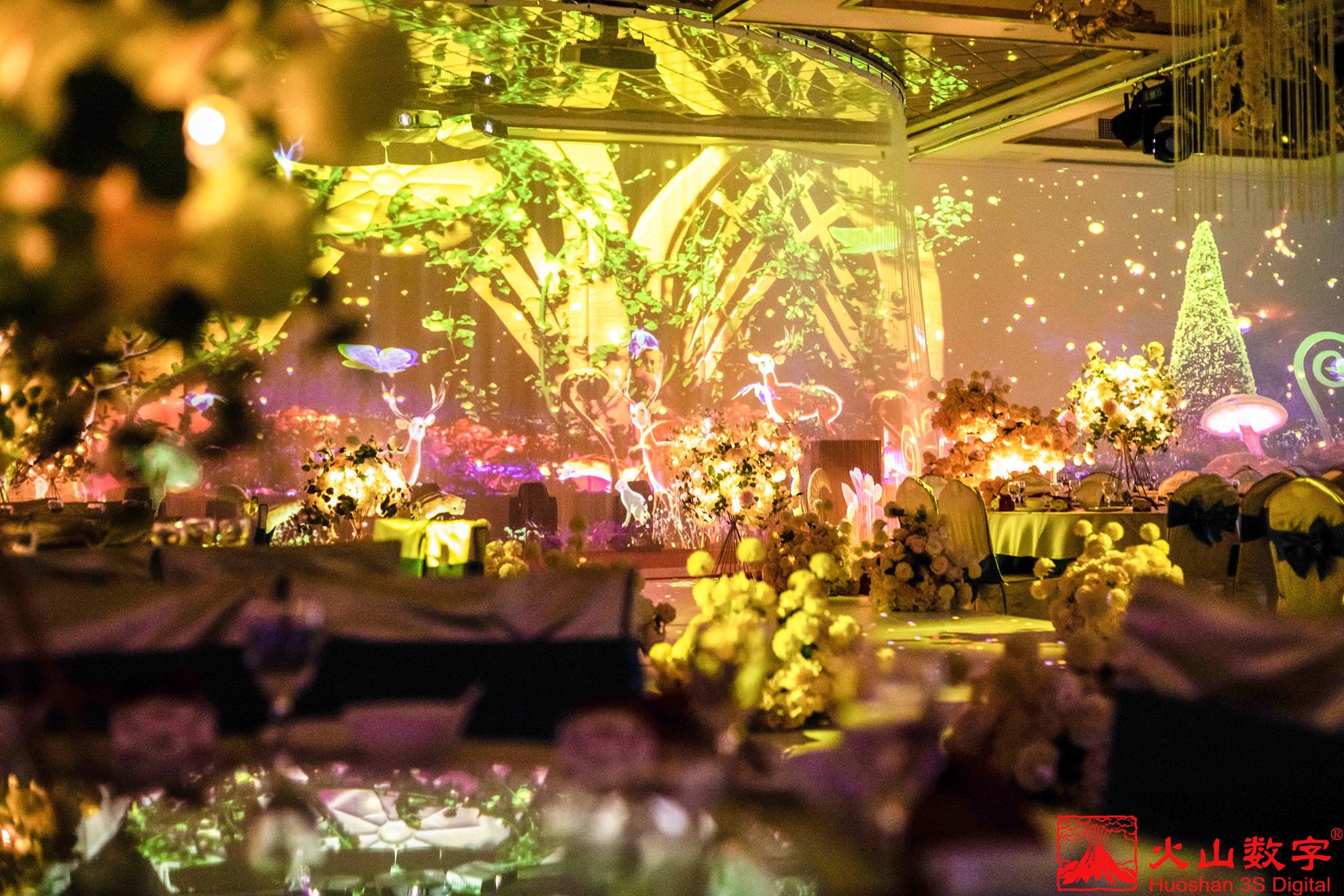 全息影像技术打造的宴会厅