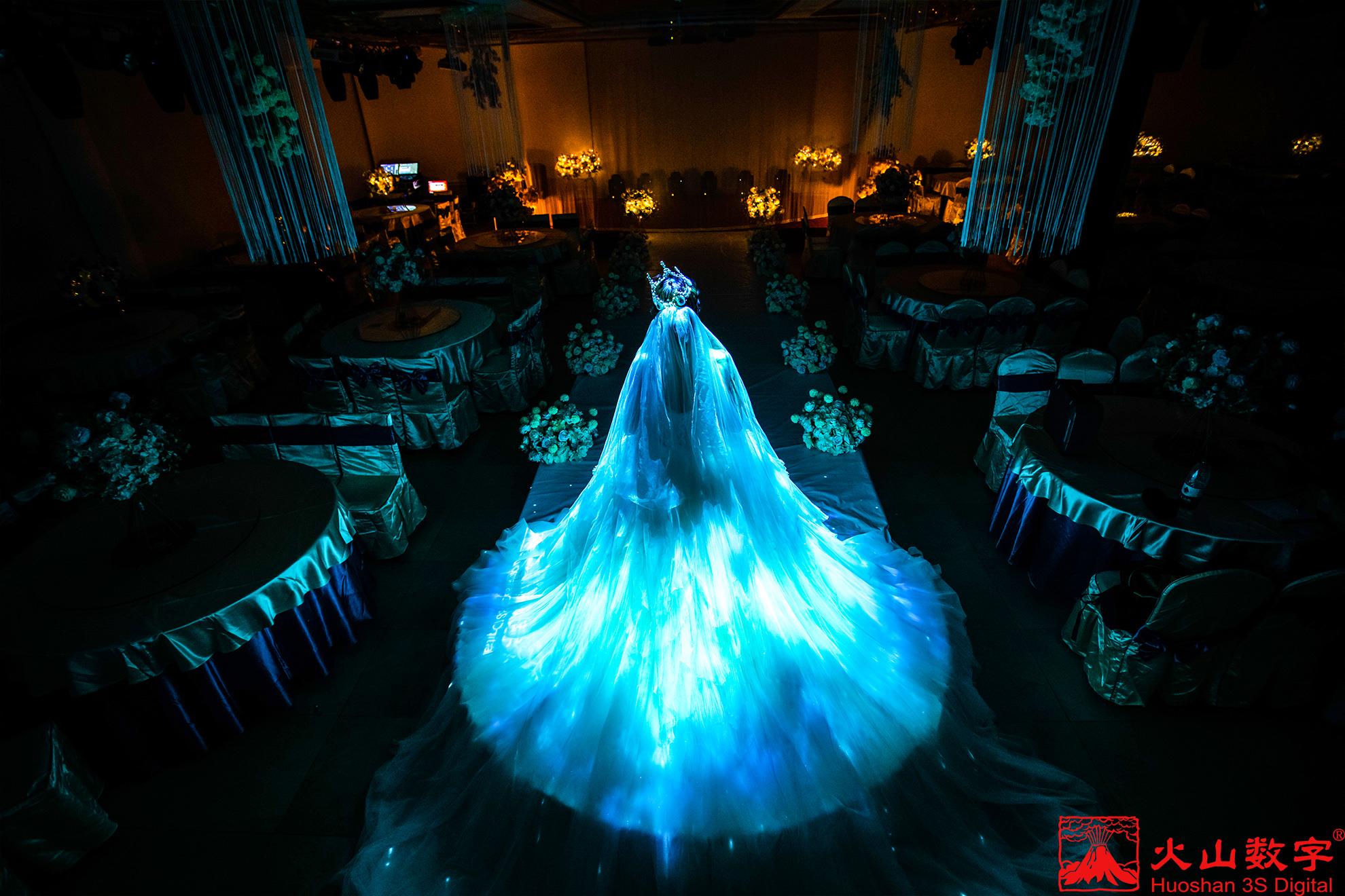 3D全息婚纱投影效果
