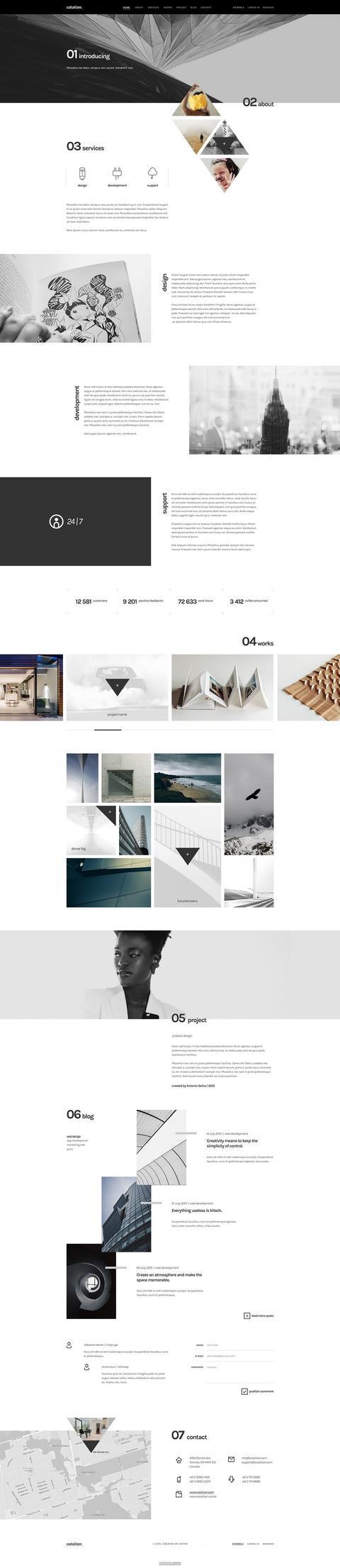 黑白配色创意网页设计