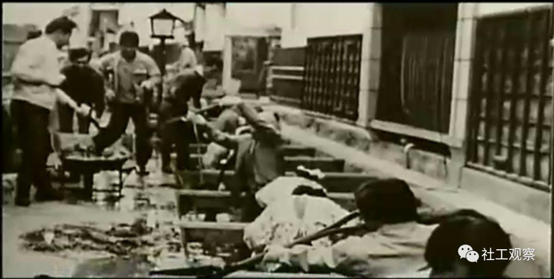 古川町清理河川场景