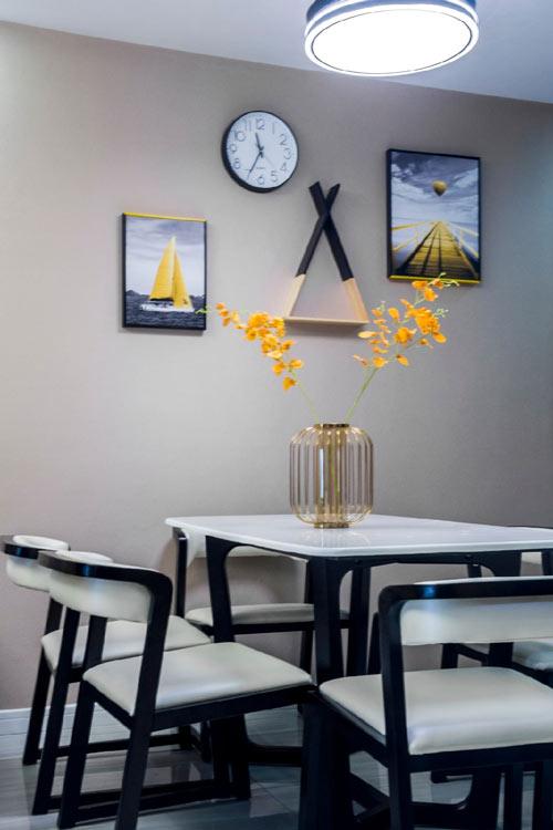 雨润城装修效果图:两居室现代简约风格