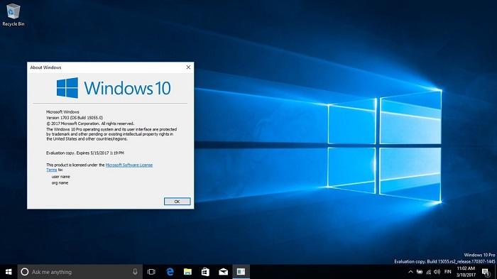 Win10创意者更新(v1703)全版本停止更新