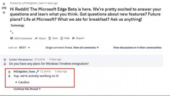 新Edge浏览器将支持Timeline功能的照片 - 2