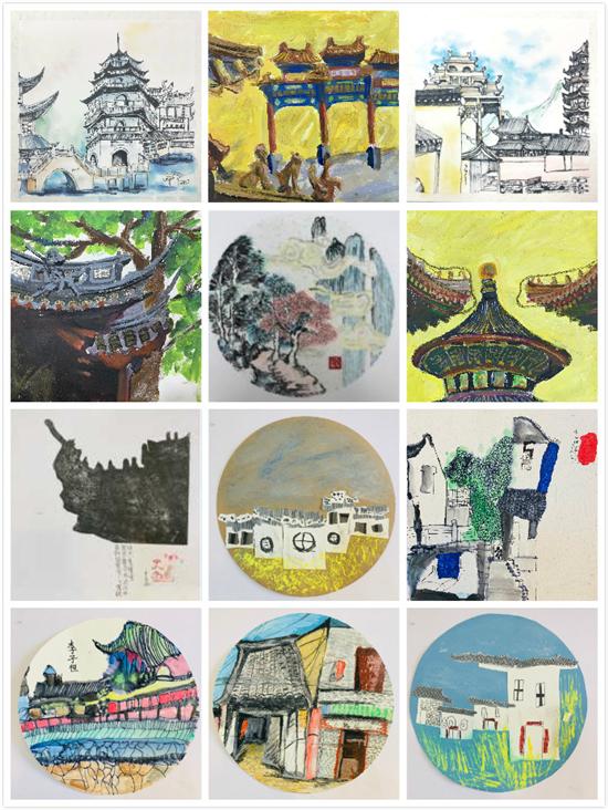 """意大利LANUVIO市博物馆""""中国建筑""""小画家国际艺术展"""
