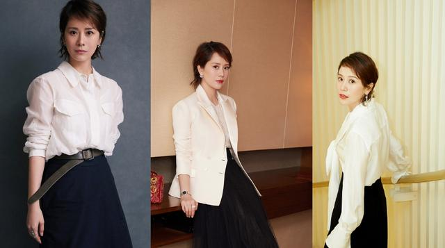 原创低调也是一种时尚:跟着海清学穿搭,简约的黑白色也能玩出花样