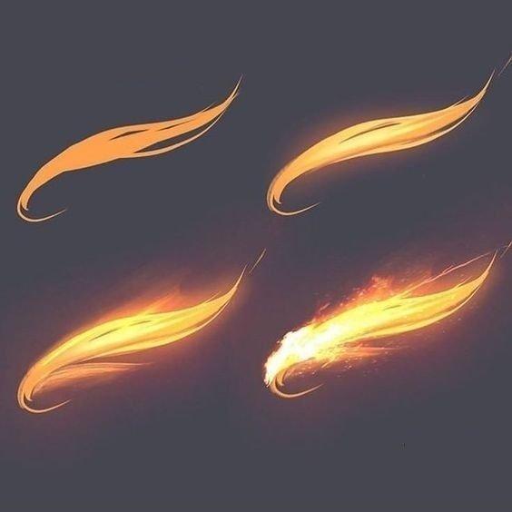「推荐」火焰的效果怎么画?各种火焰的效果绘画参考来看看叭