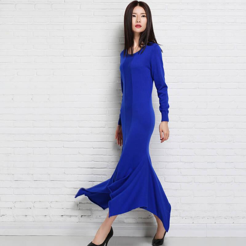 原创优雅大方的鱼尾裙,简单流线凹出魅力S型曲线,助你塑造名媛气质