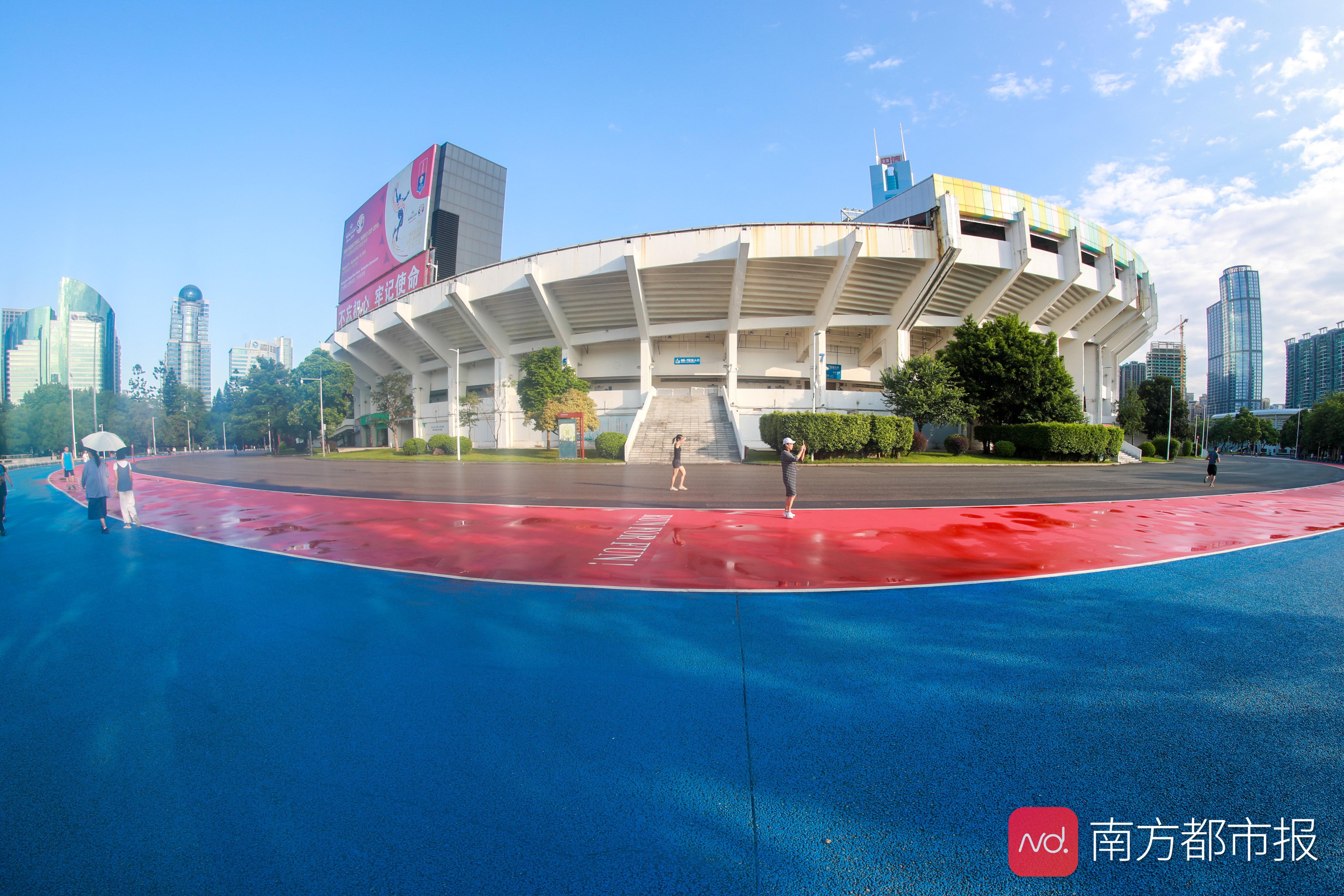 广州跑友福利来了,全国首条大型体育场外围千米塑胶跑道亮相