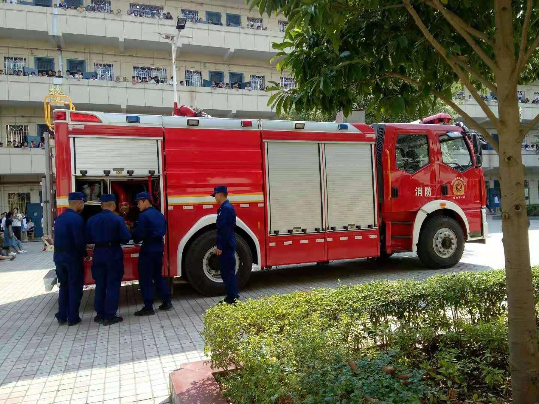 邵阳县二中举行消防安全演练活动