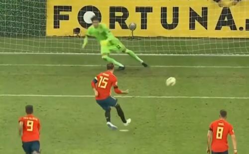 欧预赛西班牙客场2:1罗马尼亚5战全胜小组领跑