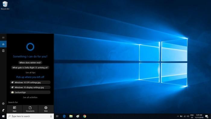 Win10 20H1最新预览版Cortana不再固定至任务栏上