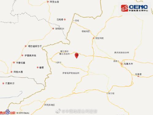 新疆博尔塔拉州精河县发生3.1级地震震源深度7千米