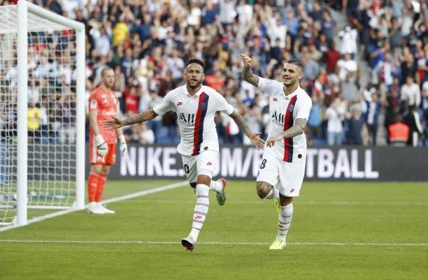 法甲-内马尔复出倒钩绝杀伊卡尔迪首秀巴黎1-0