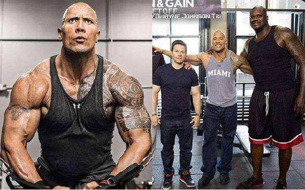 """当肌肉猛男遇上NBA巨人,尴尬了!巨石强森在奥胖前变""""鹅卵石"""""""