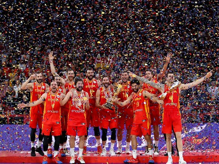 篮球世界杯丨西班牙队夺得2019年篮球世界杯冠军