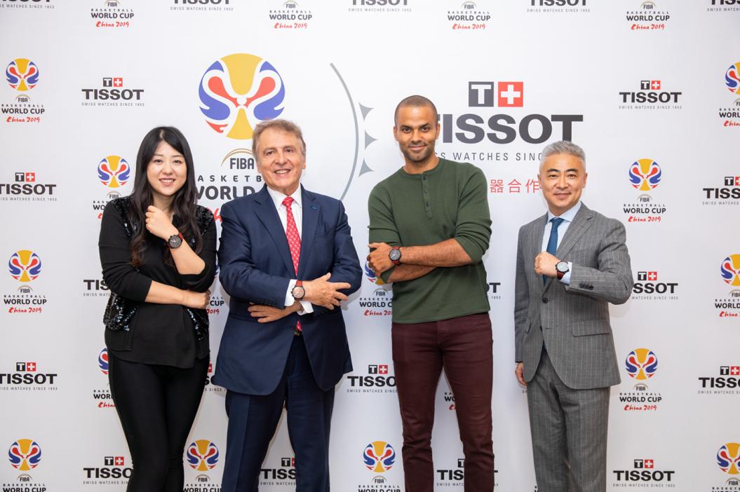 托尼·帕克现身TISSOT天梭表2019国际篮联篮球世界杯决赛派对