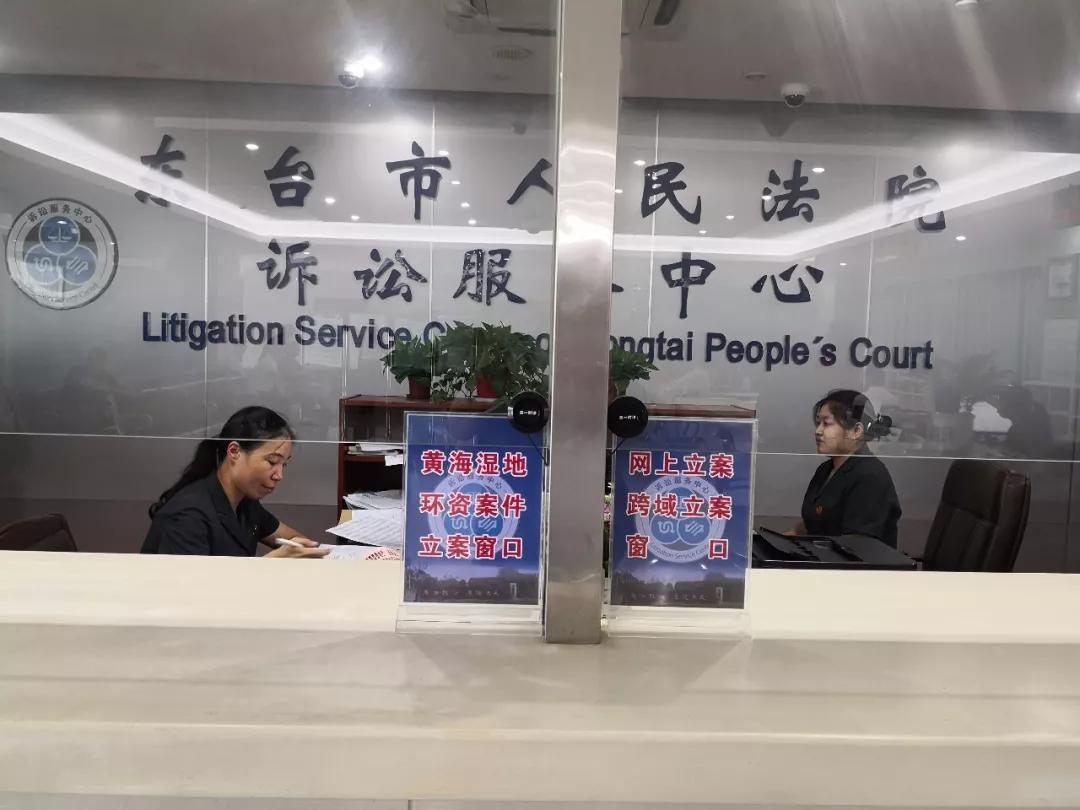 仅用10分钟!东台法院成功办理黄海湿地法庭首例跨域立案