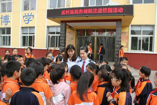 孟村县税务局开展税法宣传进学校活动