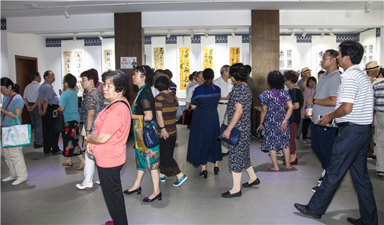 上海.庆祝建国70周年习近平用典书画展隆重开幕