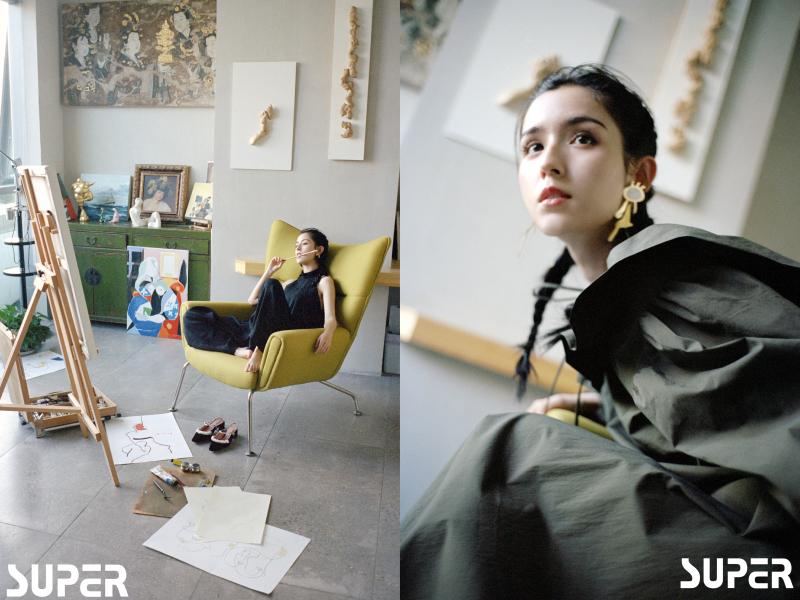 哈妮克孜登杂志九月刊 复古麻花辫演绎早秋新时尚