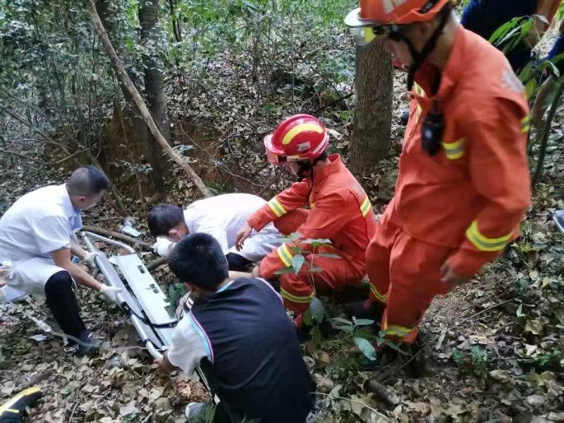 17岁大学生登岳麓山拍照时坠崖,急救消防联手成功救出