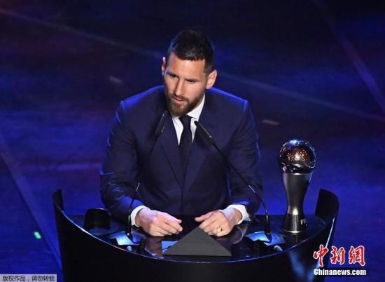 超越C罗梅西第六次荣膺国际足联年度最佳运动员