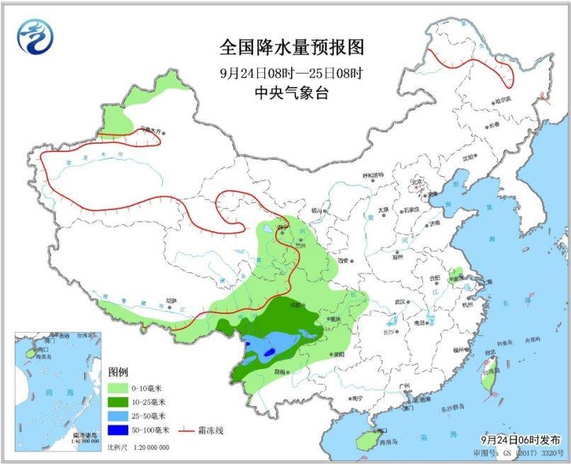 未来三天西藏东部和南部青海东部等地有雨雪天气