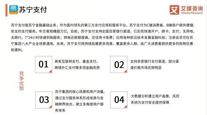 艾媒发布2019上半年移动支付行业报告 苏宁支付入选案例