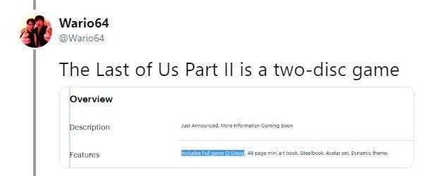 《最后的生还者2》实体版将是双碟装估计接近90GB