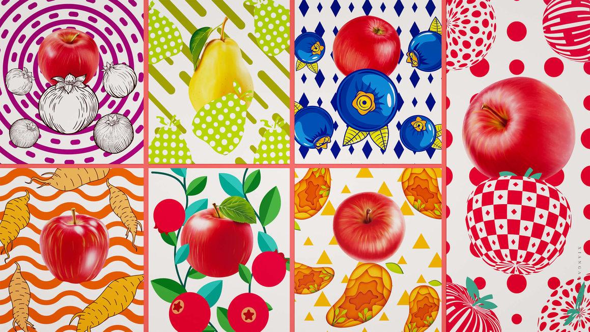 浓缩水果清汁饮料包装设计