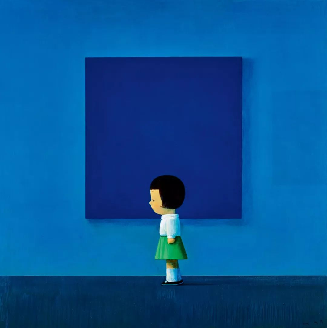 2019秋拍刘野拍卖史上最大幅创作《国际蓝》